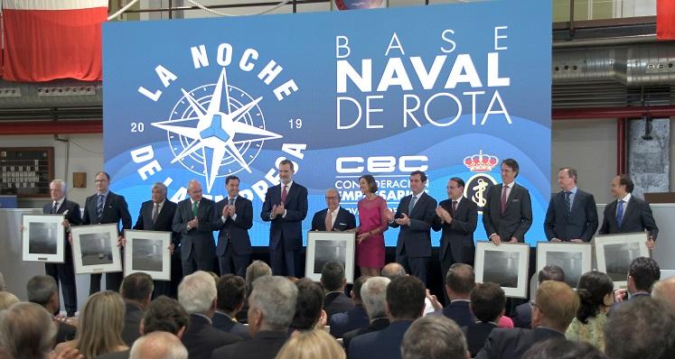 El Rey presidió el acto, que se celebró en la Base Naval de Rota