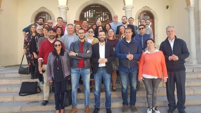 Juan Franco y su equipo con el que concurrirá a los comicios locales