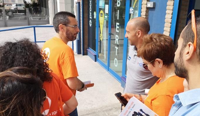 Juan Franco, en una visita al Polígono Industrial del Zabal