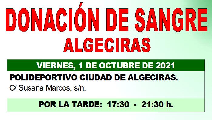 Algeciras organiza una donación de sangre para el 1 de octubre