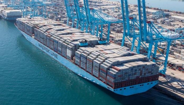 Un buque atracado en el Puerto de Algeciras
