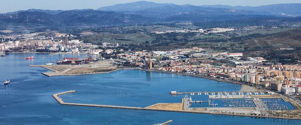 La parte más al norte de La Línea, vista desde el Peñón de Gibraltar