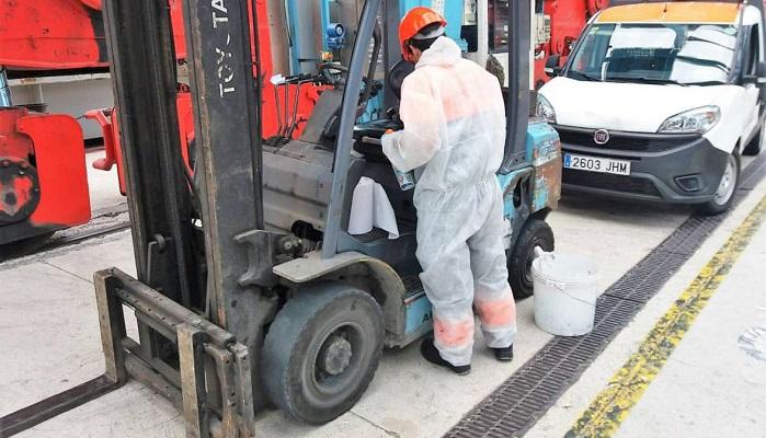 APM Terminals refuerza sus medidas higiénicas en el puerto de Algeciras