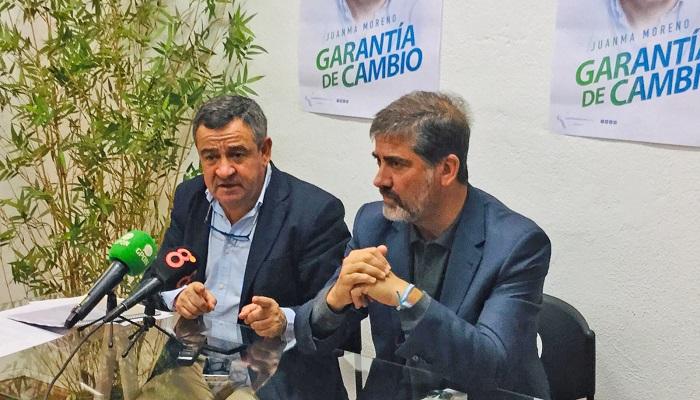 Juan Pablo Arriaga, a la derecha, invita a todos los linenses a la sede del PP