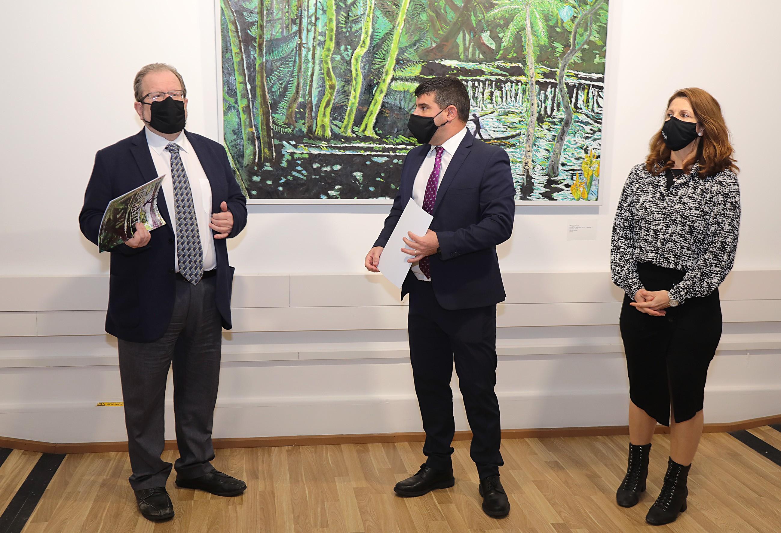El ministro de Cultura en la inauguración. Foto GG