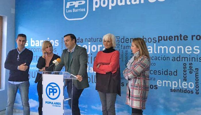 Rueda de prensa de los representantes del PP en Los Barrios