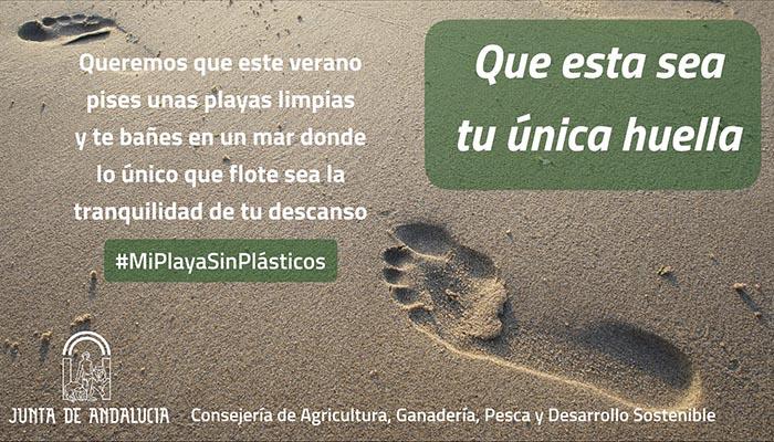 Imagen de la campaña desarrollada por la Junta de Andalucía en las playas