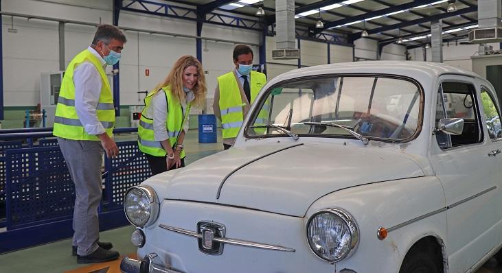 Ana Mestre, esta mañana en la estación de la ITV en Jerez de la Frontera