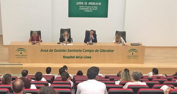 El acto, celebrado esta mañana en el Hospital Comarcal de La Línea