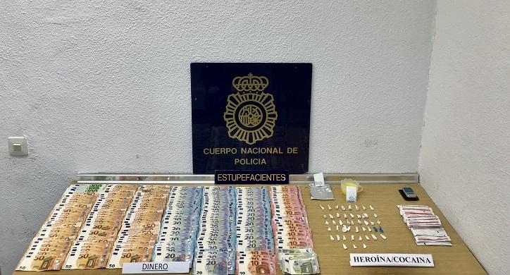 En la operación se localizó una importante cantidad de dinero y droga