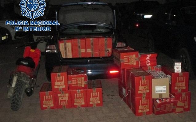 La Policía localizó 8.500 cajetillas de tabaco