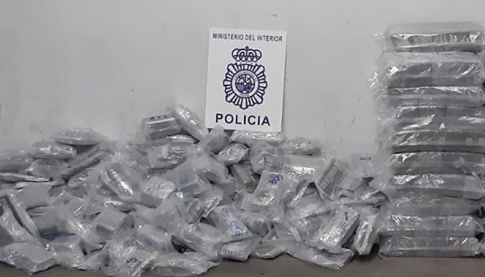 Imagen de la droga intervenida por la Policía Nacional en el Puerto de Algeciras