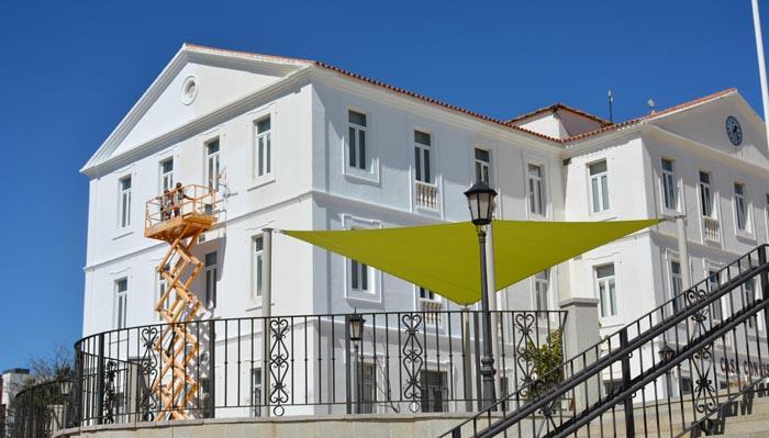 Uno de los edificios del plan de pintado
