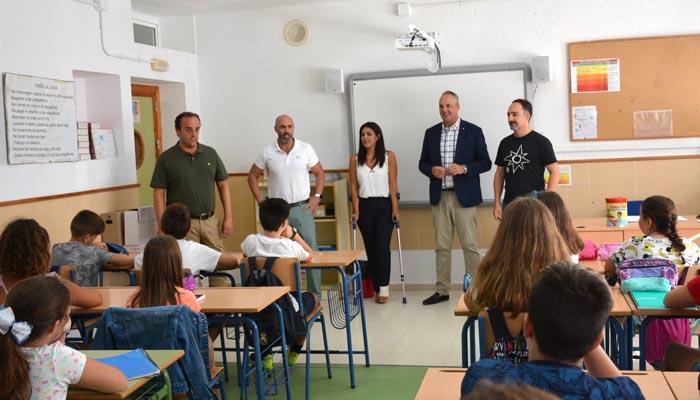 Foto de archivo del inicio del curso escolar en San Roque