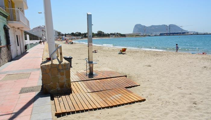 Una de las playas del municipio de San Roque