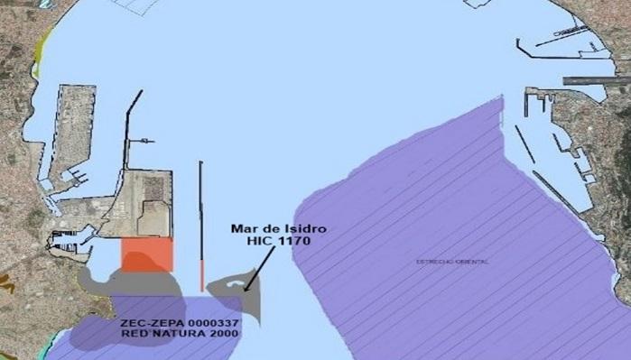 Agaden denunciará la intención del puerto de destruir un arrecife