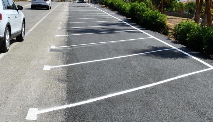 Las nuevas plazas de aparcamiento en Torreguadiaro