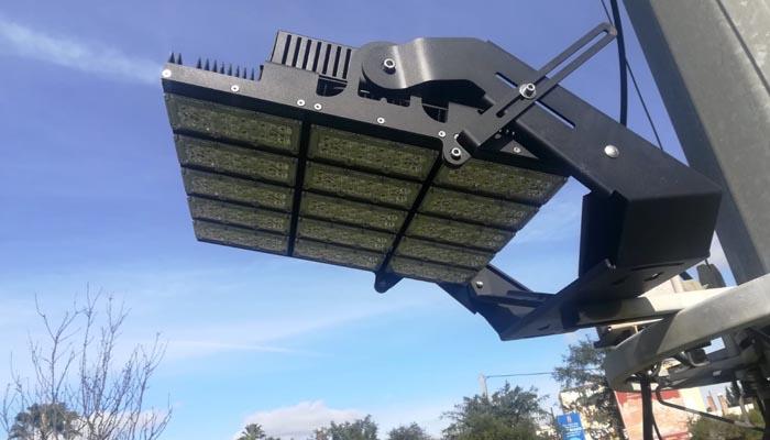 Instalación de la nueva luminaria