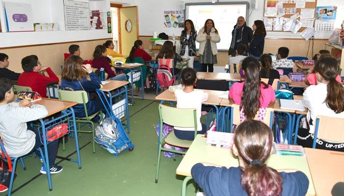 Imagen de archivo de un aula del colegio San Bernardo
