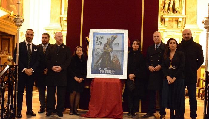 Una pintura del Nazareno, cartel de la Semana Santa 2020 en San Roque