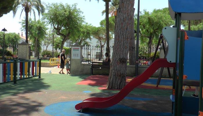 Uno de los parques infantiles de San Roque