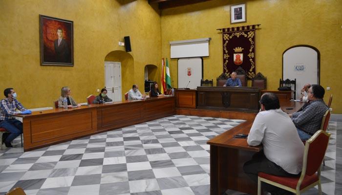 El equipo de Gobierno, reunido en el Palacio de los Gobernadores