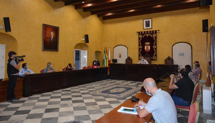 Imagen de la reunión del equipo de Gobierno en el Palacio de los Gobernadores