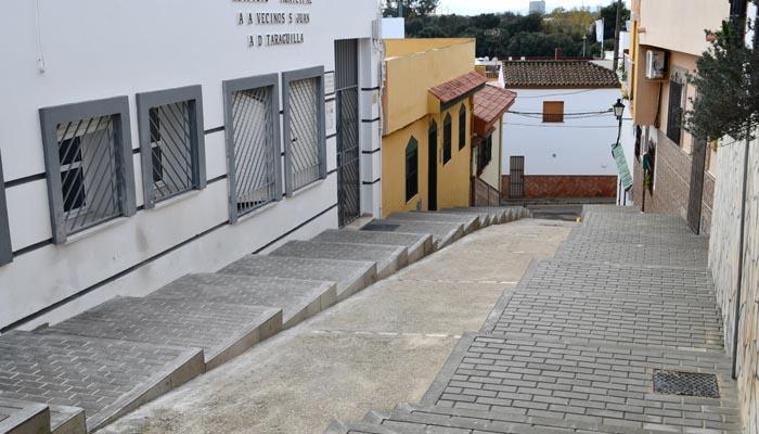 Aspecto actual de la calle Jardines de Taraguilla