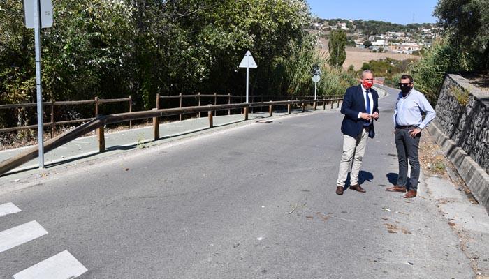 Ruiz Boix y Pizarro en la visita a la carretera. Foto: Multimedia