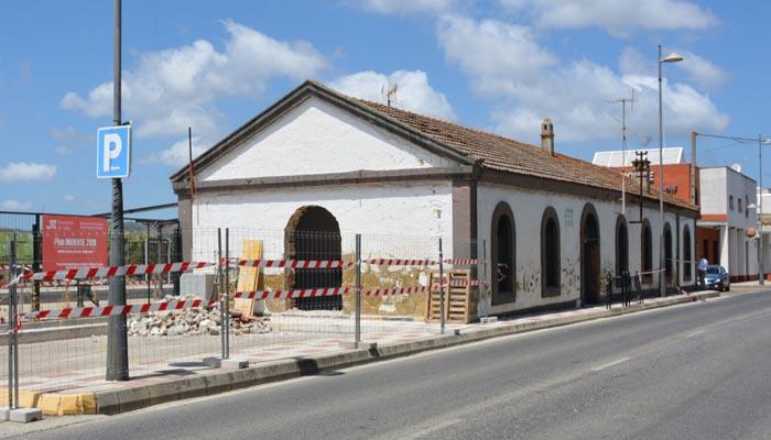 Aspecto actual de la antigua estación de tren