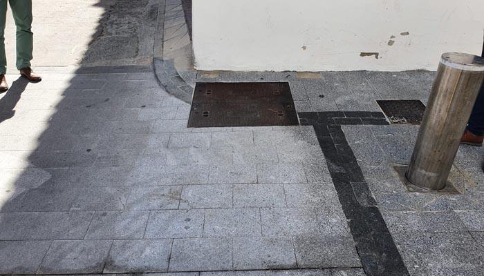 Aspecto de uno de los tramos del pavimento arreglado