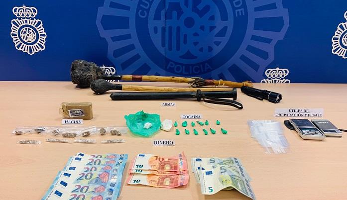 Desmantelado en Algeciras un punto activo de venta de cocaína y hachís