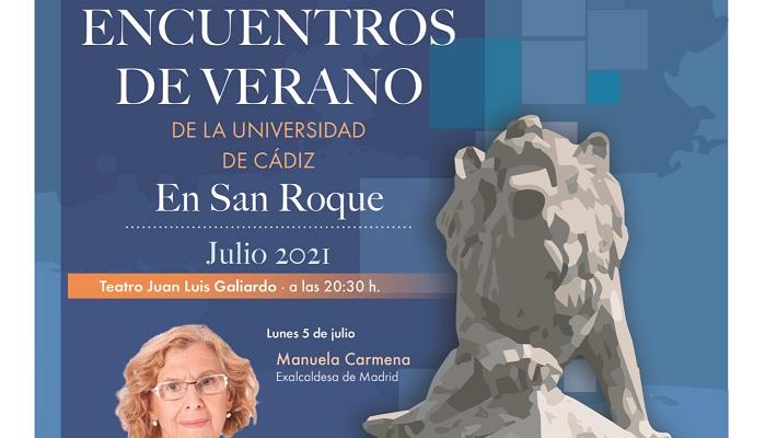 Manuela Carmena, este lunes en los Encuentros de Verano de la UCA