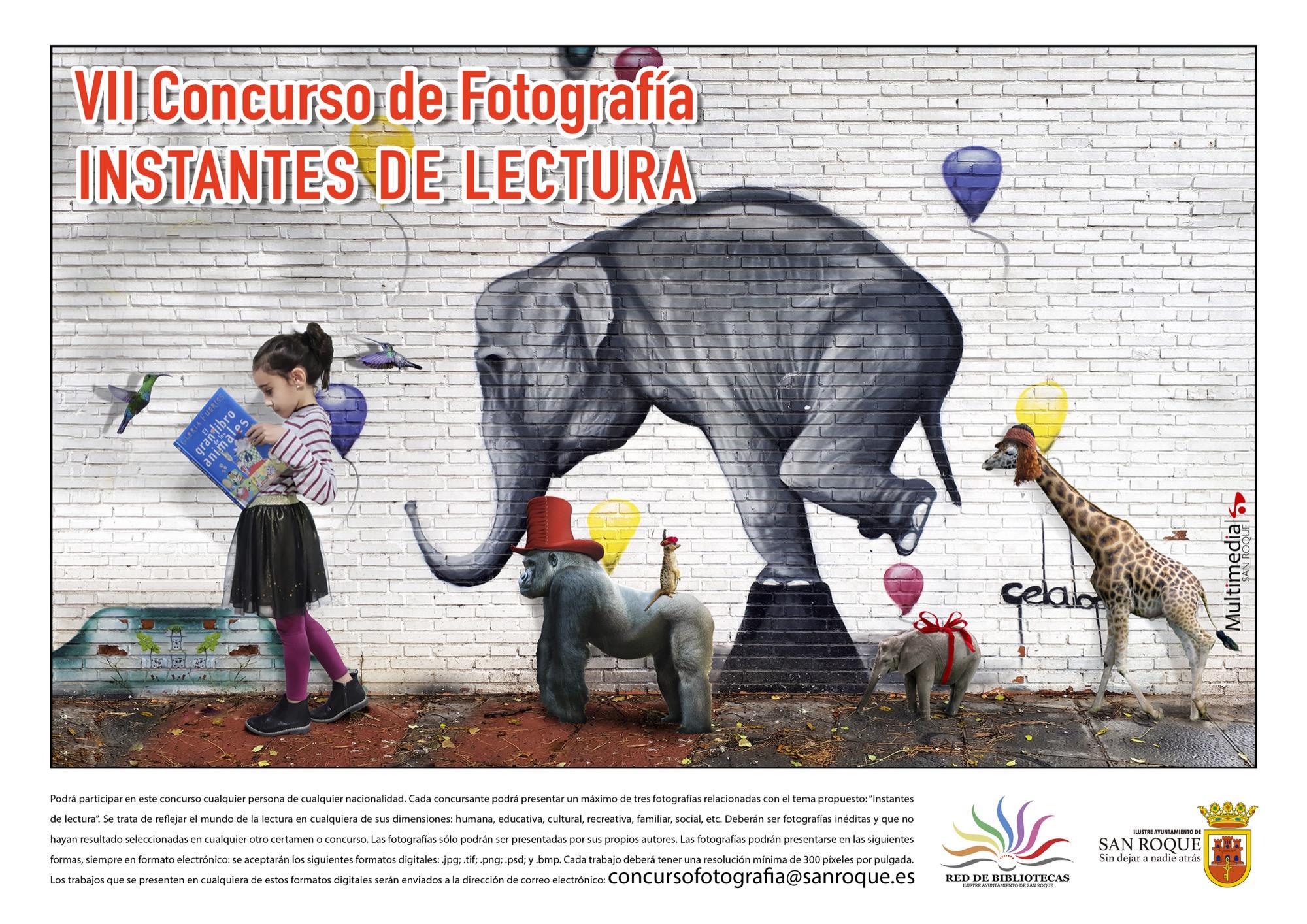 Cartel del concurso de fotografía 'Instantes de Lectura'. Foto NG