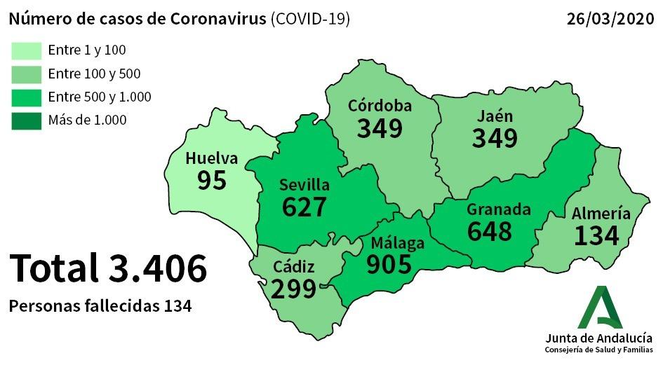 Cádiz se acerca a los 300 afectados por coronavirus.
