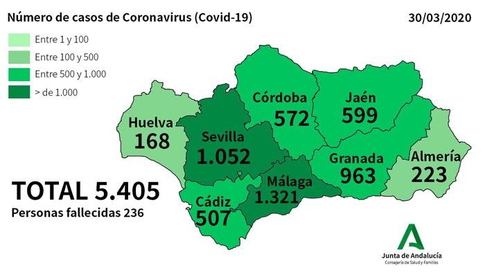 La provincia de Cádiz supera ya el medio millar de afectados por coronavirus