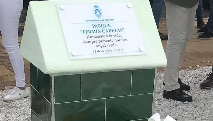 Algeciras homenajea a Fermín Cabezas con un parque en San Bernabé