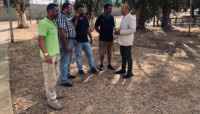 Visita al parque que llevará el nombre del guardia civil Fermín Cabezas
