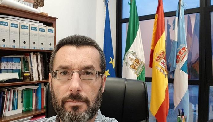 Juan Franco, esta mañana en su despacho del Ayuntamiento