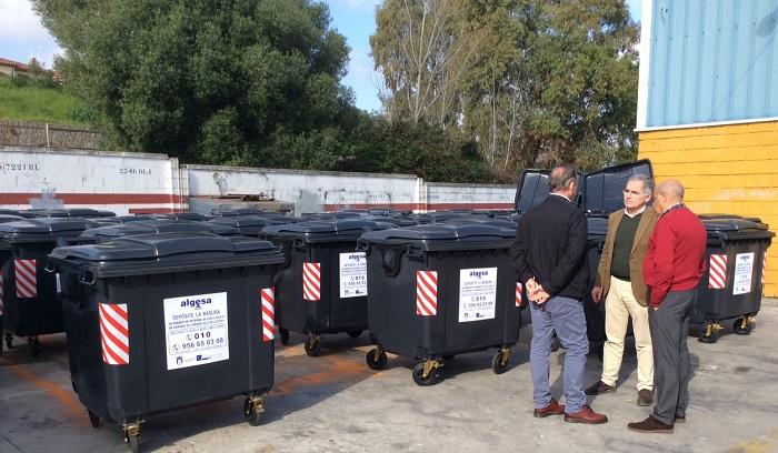 El Ayuntamiento de Algeciras repone 170 contenedores de basura