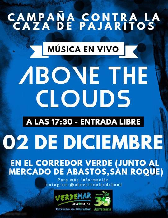 Cartel del concierto de Above the Clouds en San Roque