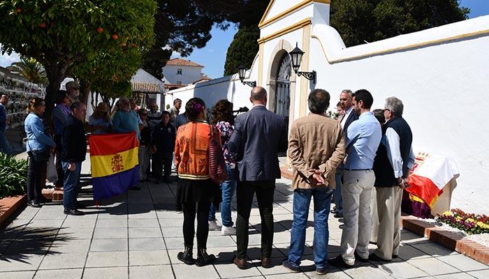 Uno de los actos celebrados en San Roque en recuerdo de la República