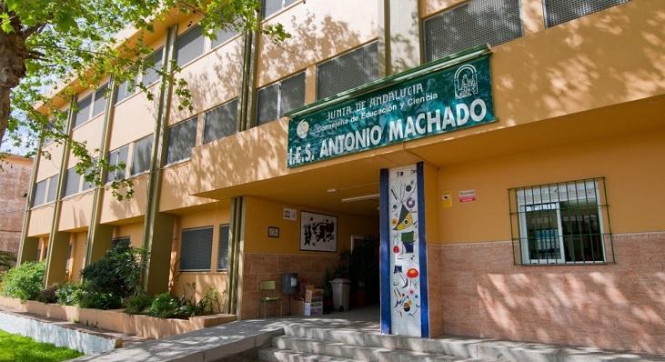 Fachada del IES Antonio Machado de La Línea