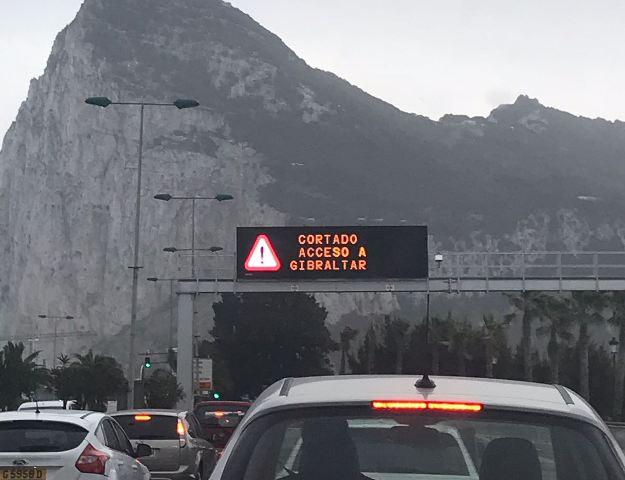 Los accesos a Gibraltar han permanecido cerrados esta mañana