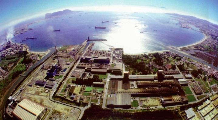 Instalaciones de Acerinox, en una vista aérea