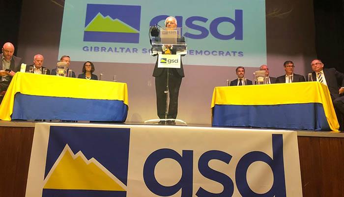 Los candidatos del GSD en un reciente acto electoral