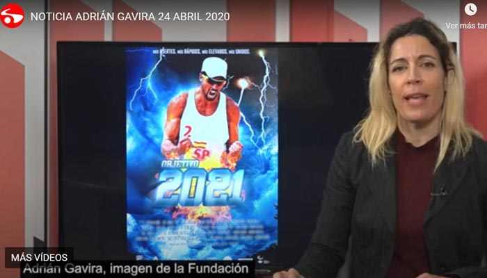 Captura de la información sobre Adrián Gavira en el televisión municipal de San Roque