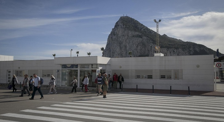 Una foto reciente de la Aduana de La Línea