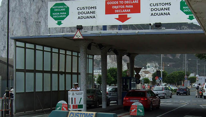 Aduana de la Verja de Gibraltar.