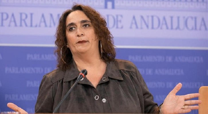 Ángela Aguilera, portavoz parlamentaria de Adelante Andalucía